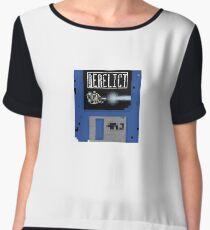 Derelict Spaceguy Disc Logo Chiffon Top
