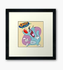 Character oggy Framed Print