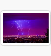 Lightning over Adelaide Sticker