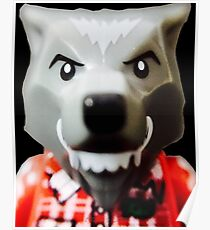 Lego Wolf Guy minifigure Poster