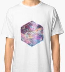 Watercolor and nebula sacred geometry  Classic T-Shirt