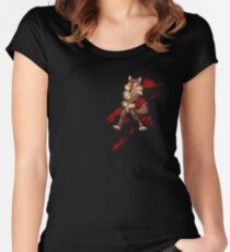 Cute anthro brown wolf Women's Fitted Scoop T-Shirt