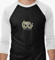 Derelict Skull Emblem Men's Baseball ¾ T-Shirt