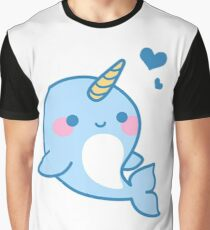 Cute Narwhal Graphic T-Shirt