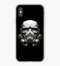 Skeleton Stormtrooper Helm iPhone Case