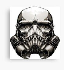 Skeleton Stormtrooper Helm Canvas Print