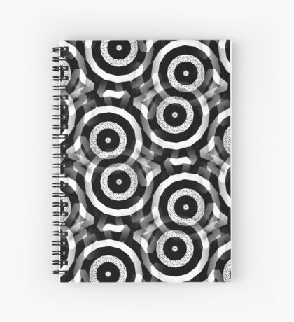TarG8 | Black and White Patterns #6 Spiral Notebook