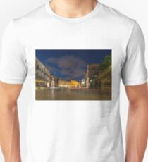 Car Light Trails on the Elegant Duomo Square in Ortygia, Syracuse Unisex T-Shirt