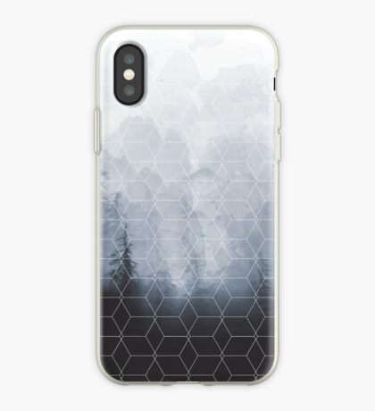 Geometric Forest Pattern iPhone Case