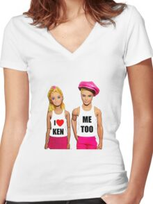 I Love Ken! (Me Too) Women's Fitted V-Neck T-Shirt