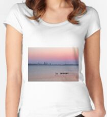 Swan River Perth Western Australia  Women's Fitted Scoop T-Shirt