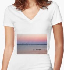 Swan River Perth Western Australia  Women's Fitted V-Neck T-Shirt