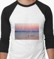 Swan River Perth Western Australia  Men's Baseball ¾ T-Shirt