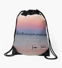 Swan River Perth Western Australia  Drawstring Bag