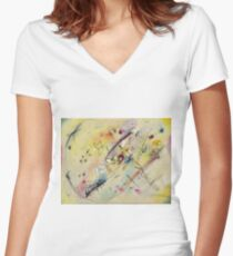 Kandinsky - Light Picture Women's Fitted V-Neck T-Shirt