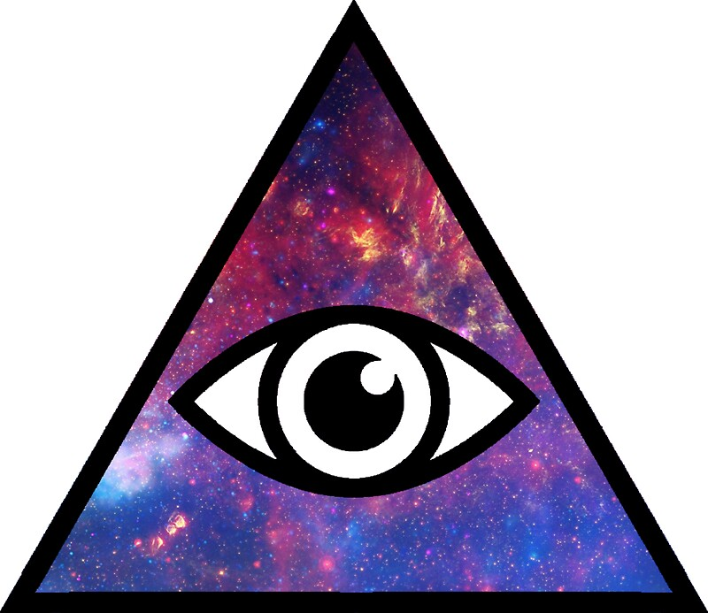 All seeing galaxy eye by mythsinc