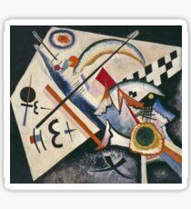 Kandinsky - White Cross Sticker