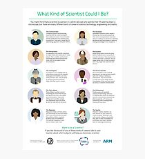 Ten Types of Scientist Photographic Print