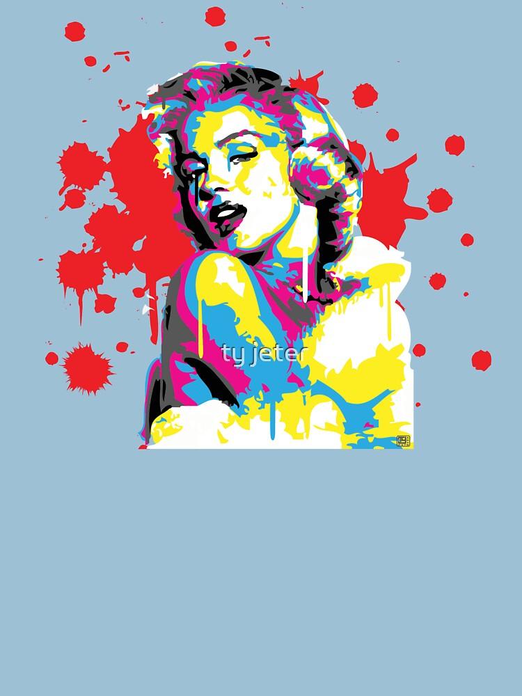 Marilyn Monroe Pop Art by the COLORBLiND ARTiST  by tyart2479