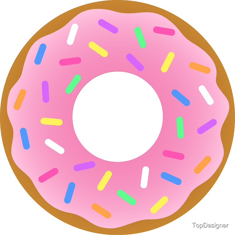 """Strawberry Donut"" Stickers by TopDesigner 