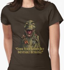 """Firefly: """"Curse your sudden but inevitable betrayal!"""" Women's Fitted T-Shirt"""