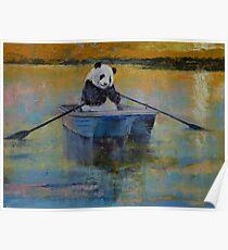 Panda Reflections Poster