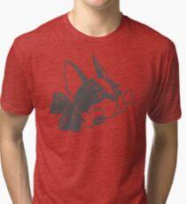 """French Bulldog """"Cherry"""" B&W Tri-blend T-Shirt"""