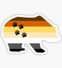 Pegatina brillante Pata de oso gay colores del arco iris