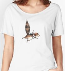 Skydiver Squirrel Women's Relaxed Fit T-Shirt
