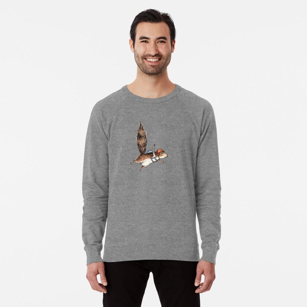 Skydiver Squirrel Lightweight Sweatshirt