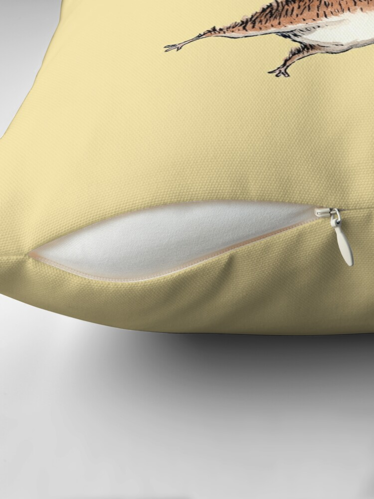 Alternate view of Skydiver Squirrel Throw Pillow