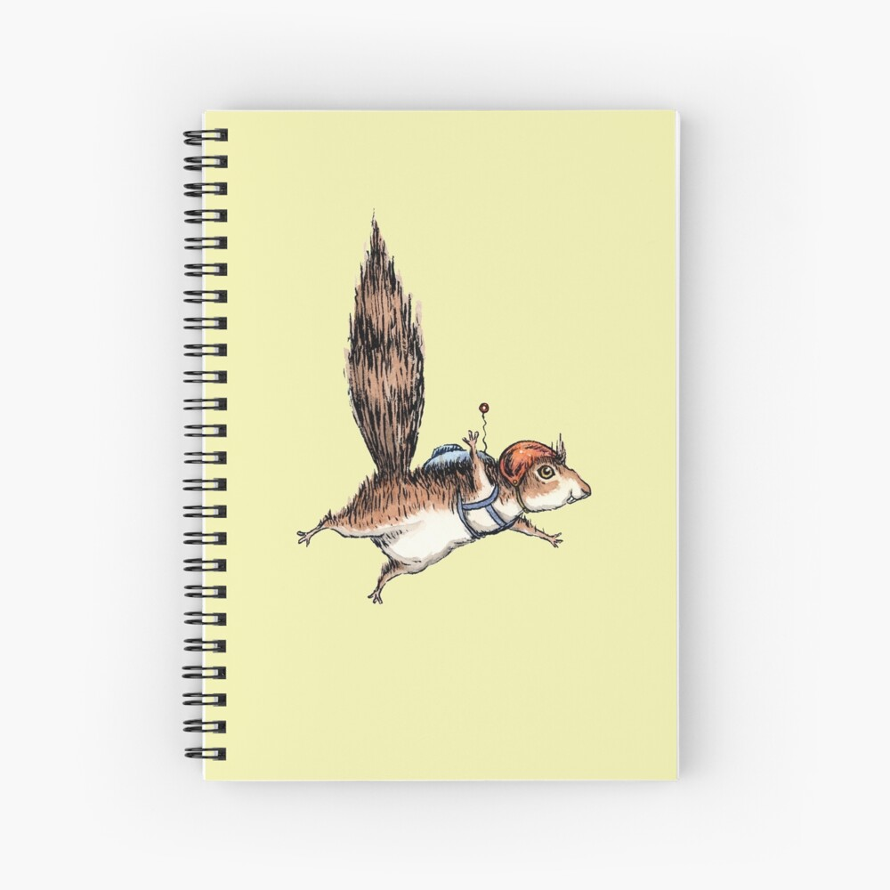 Skydiver Squirrel Spiral Notebook