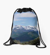 Mountain range Drawstring Bag