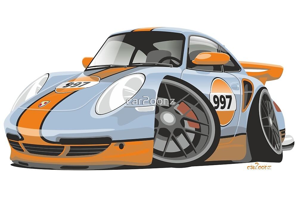Quot Porsche 911 997 Turbo Caricature Quot By Car2oonz Redbubble