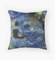 Starry Doge Throw Pillow