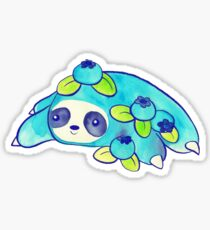 Watercolor Blueberry Sloth Sticker