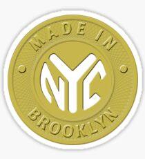 Pegatina Hecho en Nueva York Brooklyn