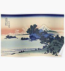 Vintage famous art - Hokusai Katsushika - Shichiri Beach In Sagami Poster