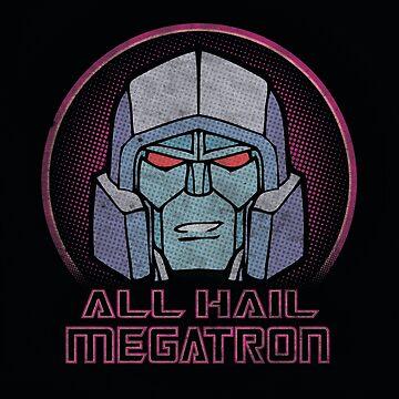 All Hail Megatron Throw Pillow by lesleylo1214