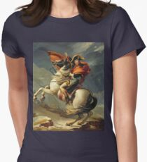 Vintage famous art - Jacques-Louis David - Napoleon Crossing The Alps Womens Fitted T-Shirt