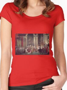 Vintage famous art - Jacques-Louis David - The Consecration Of The Emperor Napoleon And The Coronation Of The Empress Josephine  Women's Fitted Scoop T-Shirt