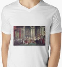 Vintage famous art - Jacques-Louis David - The Consecration Of The Emperor Napoleon And The Coronation Of The Empress Josephine  T-Shirt