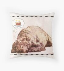 Happy Bearthday Throw Pillow