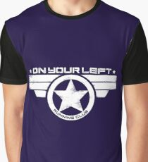 """""""On Your Left Running Club"""" Distressed Print 2 Graphic T-Shirt"""