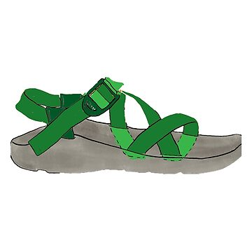 Green Chaco Shoe by alitmcgary