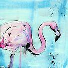 It's a Flamingo! Stencil Art by Katie Robinson