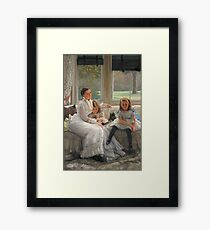 Vintage famous art - James Tissot - Smith Gill And Two Of Her Children Framed Print