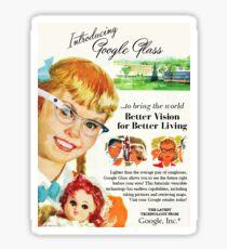 Vintage-Style Google Glass Ad Sticker