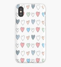 Colorful hearts pattern iPhone Case/Skin