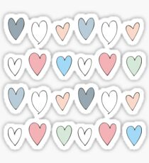 Colorful hearts pattern Sticker